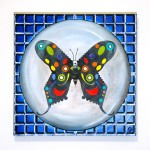 Papillon - Death of Caged Beauty, Oil on canvas, 20in x 20in