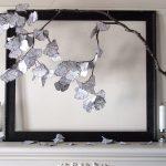 Ginkgo Zen, Paper, twig, frame, 64in. x 67in x 24in. , 2016