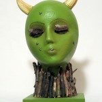 The Green Goddess, Styrofoam, twigs