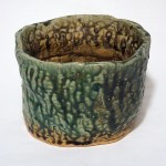 Celadon / Oatmeal glazed vessel, 6in x 12in