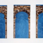 Triptych to the Unseen, 3 oil paintings on canvas, each is 36in x 18in