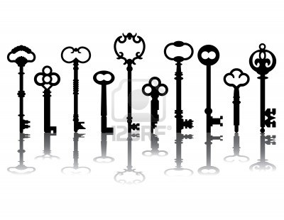 ten-skeleton-key-silhouettes-with-shadows-referenced-from-actual-antique-keys